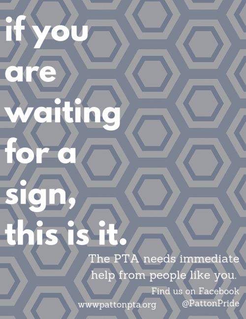 pta needs you....